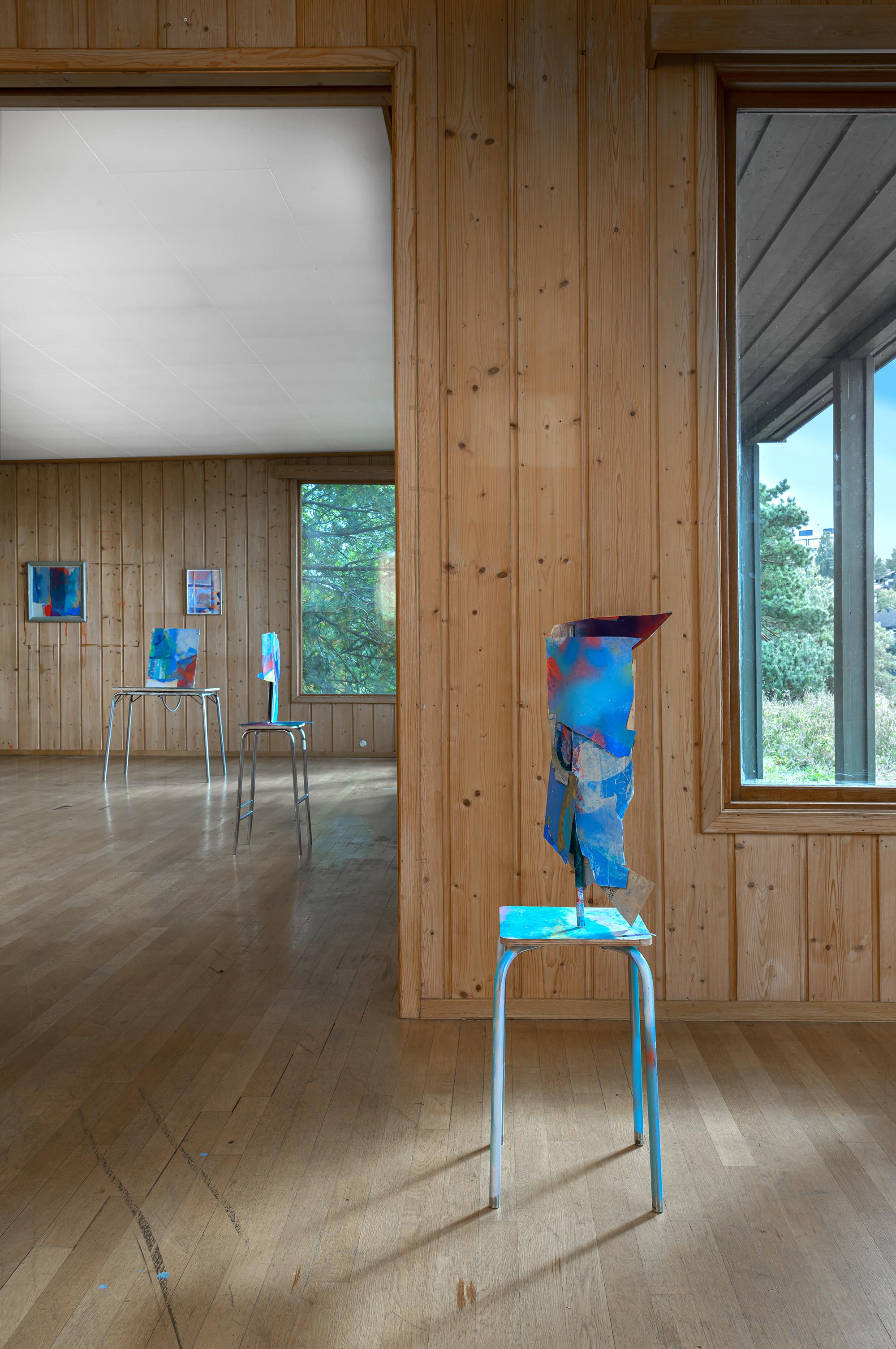 """Installationview """"Myter Epler Stjerner"""" 2020 Plum Trim"""