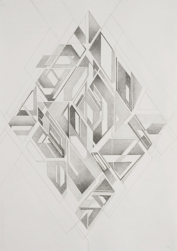 Mod 2 (Super Symmetry) Pencil on paper, 49x70 cm