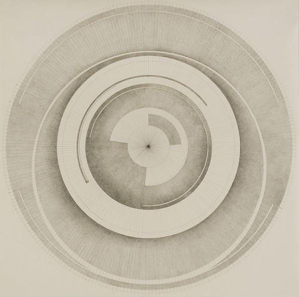 Mod 1 (Sphere), Pencil on paper, 49x49 cm